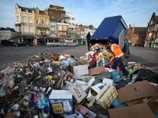 Iedere dag zes vrachtwagens afval