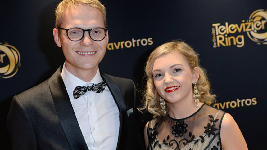 Luuk Ikink en zijn vrouw Simone tijdens het Televizier-Ring-Gala vorig jaar.