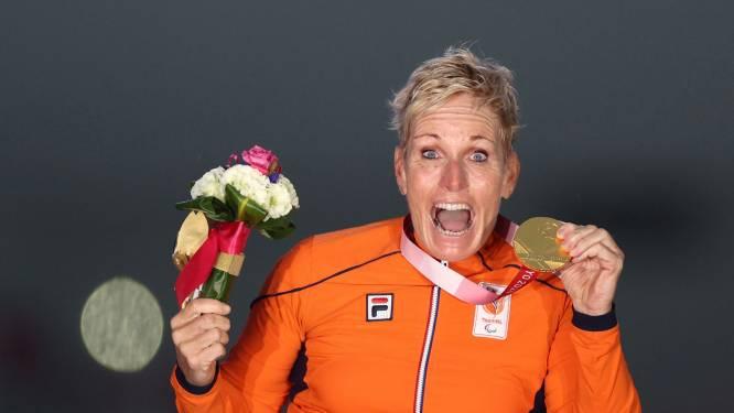 Eenzame vreugde in Westerhaarse woning dankzij goud van handbikester Jennette Jansen: 'Ik stond te juichen en te springen'