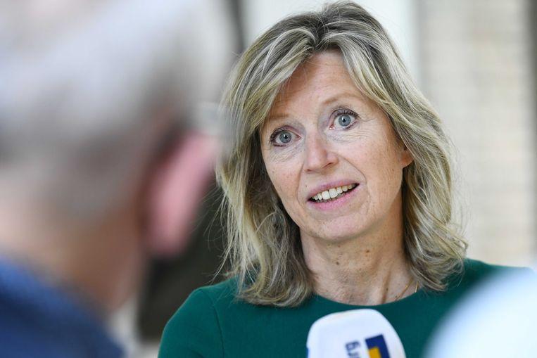 Demissionair minister van Binnenlandse Zaken Kajsa Ollongren (D66). Beeld ANP
