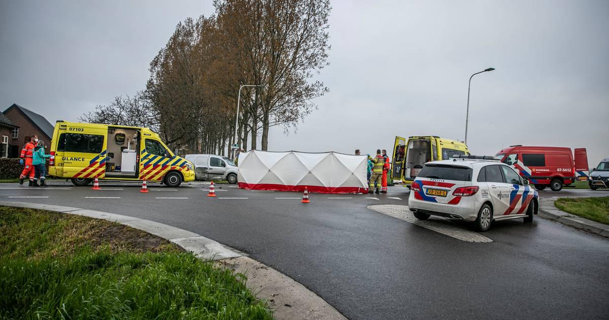 Motorrijder overleden na aanrijding met bestelauto in Angerlo.