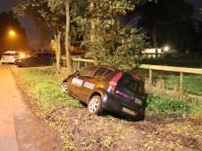 Auto belandt na uitwijkmanoeuvre in greppel in Nieuwegein