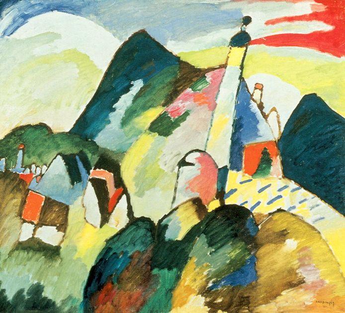 Zicht op Murnau met kerk van Wassily Kandinsky