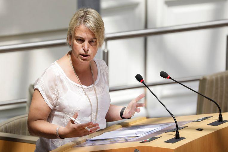 Vlaams minister van Omgeving, Natuur en Landbouw Joke Schauvliege (CD&V) heeft  Beeld BELGA