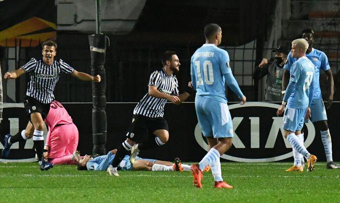 PSV verloor dit Europa League-seizoen met 4-1 van het Griekse PAOK Saloniki.