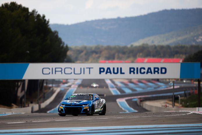 Thijmen Nabuurs in actie op Circuit Paul Ricard in zijn debuutjaar in de European GT4.