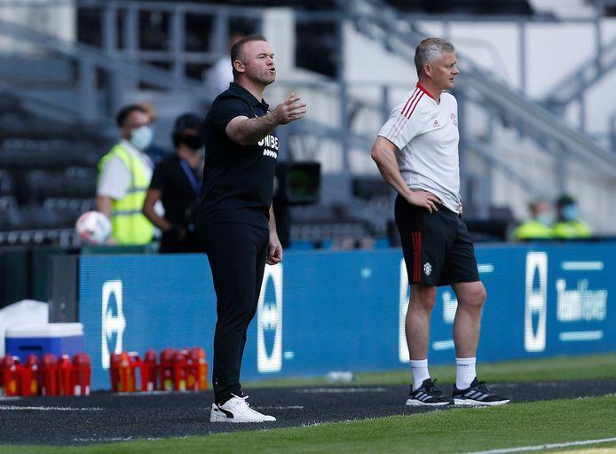 Wayne Rooney en Ole Gunnar Solskjaer.