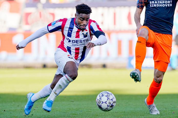Ché Nunnely tijdens Willem II - PSV.