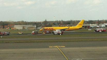 Brandweer rukt uit naar DHL-vliegtuig op Zaventem