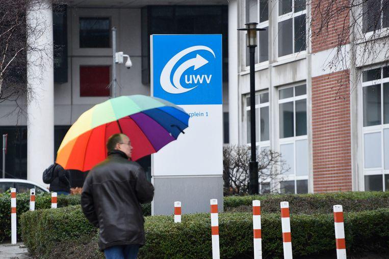 Het UWV in Den Haag. Ruim 16 duizend ambtenaren hebben toegang tot het Sonarsysteem, dat wordt gebruikt voor arbeidsbemiddeling. Beeld Hollandse Hoogte / Peter Hilz