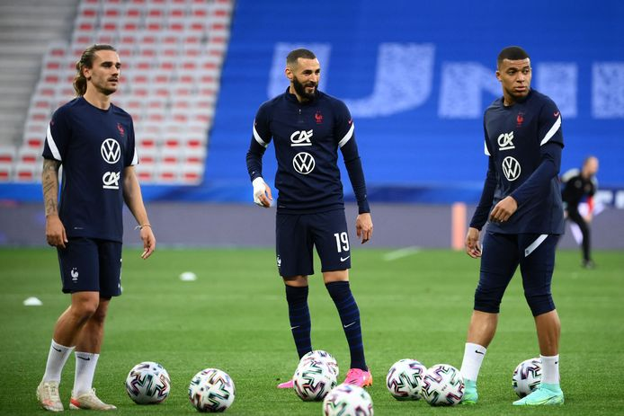 Griezmann, Benzema en Mbappé.