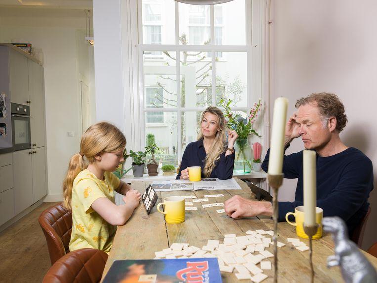 Susan Smit met dochter Linde en echtgenoot Onno Aerden. Beeld Ivo van der Bent
