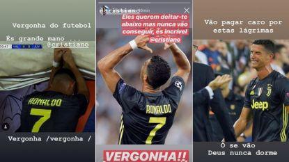 """Zus Cristiano is ziedend na rood Ronaldo: """"Er zal een hoge prijs betaald worden voor deze tranen. De schande van het voetbal"""""""