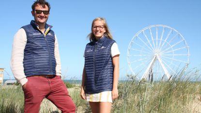 Ondernemer Klaas Van Laeren stelt C-Lodge voor bij het strand van De Panne