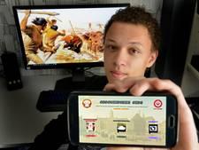 Timo (17) scoort met eigen geschiedenis-app: 'Een boek heb ik niet meer nodig'