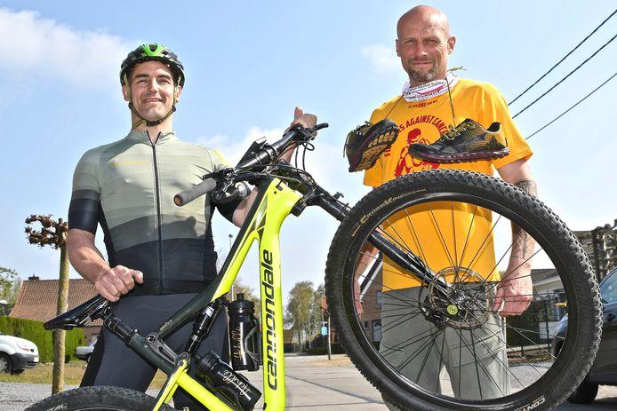 Mario Vandeputte wil de Fiertelmeers met de mountainbike bedwingen, Wouter Vanhee wil al lopend en wandelend aan 8.848 hoogtemeters raken. Op die manier voltooien ze de Everesting-challenge.