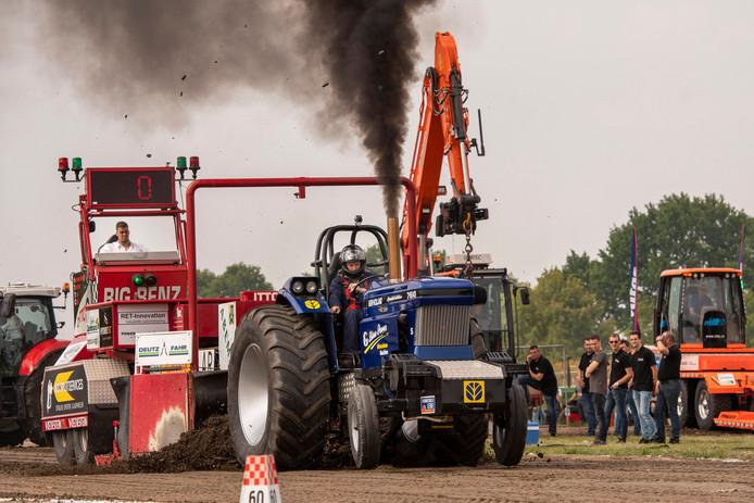 Trekkertrek Zundert: Blue Power uit de categorie supersport 3,4 ton.