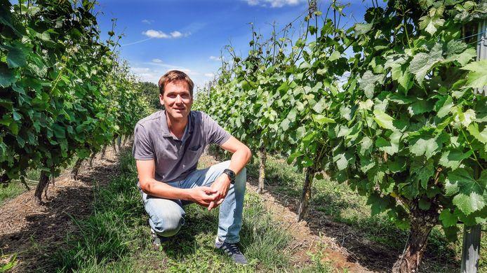 Wijbouwer Martin Bacquaert van wijndomein Entre-deux-Monts in Heuvelland