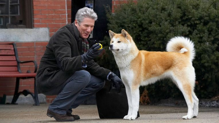 Richard Gere in Hachi a Dog's Tale. Beeld