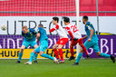 UTRECHT, Netherlands, 24-01-2021, football, Stadium de Galgenwaard, Dutch eredivisie, season 2020 / 2021, FC Utrecht player Othmane Boussaid scores the 1-0 during the match Utrecht - Sparta