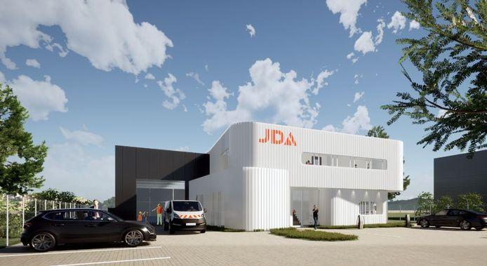 Impressie nieuwbouw JDA Verkeer en Veiligheid op Bedrijvenpark Kaatsheuvel.