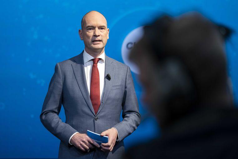 ChristenUnie fractievoorzitter Gert-Jan Segers tijdens het partijcongres.  Beeld ANP