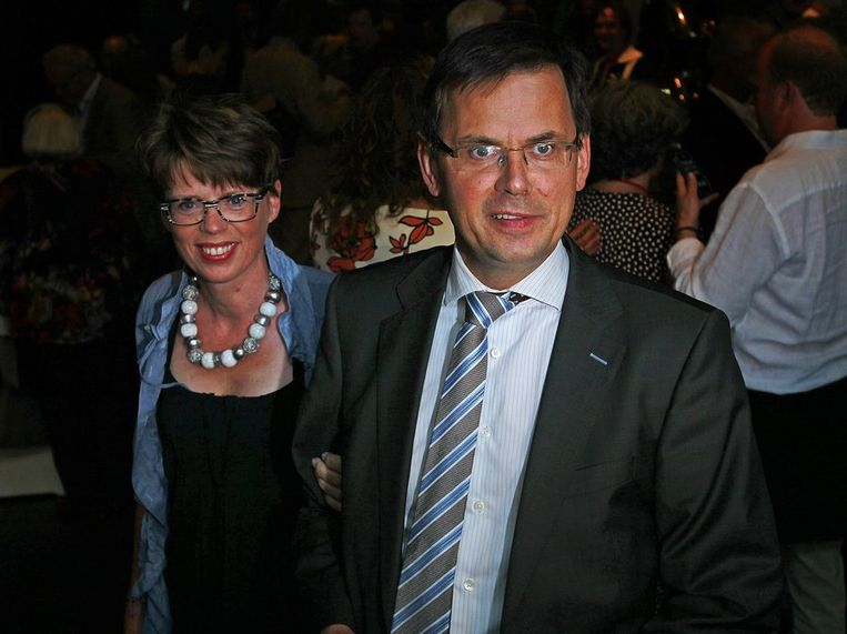 Andre Rouvoet samen met zijn vrouw Liesbeth. Beeld anp