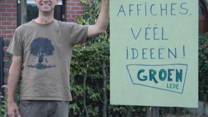 Kandidaat Groen voert bijzonder 'groene' campagne