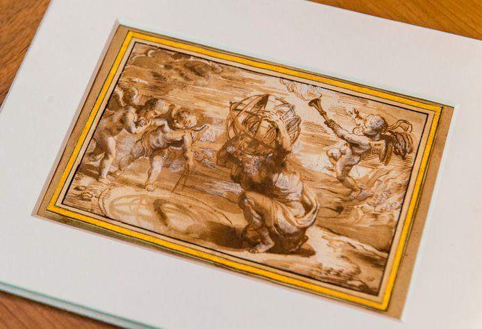 De tekening van Rubens, die na vier eeuwen weer 'thuiskomt' bij Plantin-Moretus.