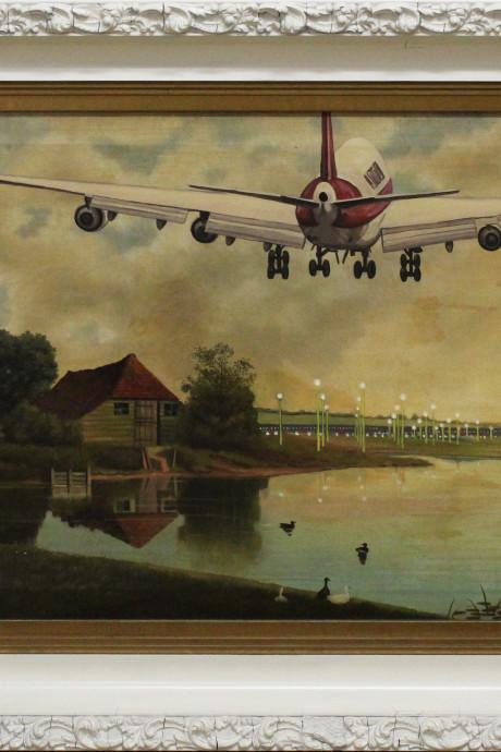 kunstenaar René Jacobs schildert Delft op absurdistische wijze