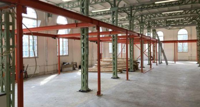 De grote ruimte bij Willem Twee kunstruimte in Den Bosch wordt verbouwd.