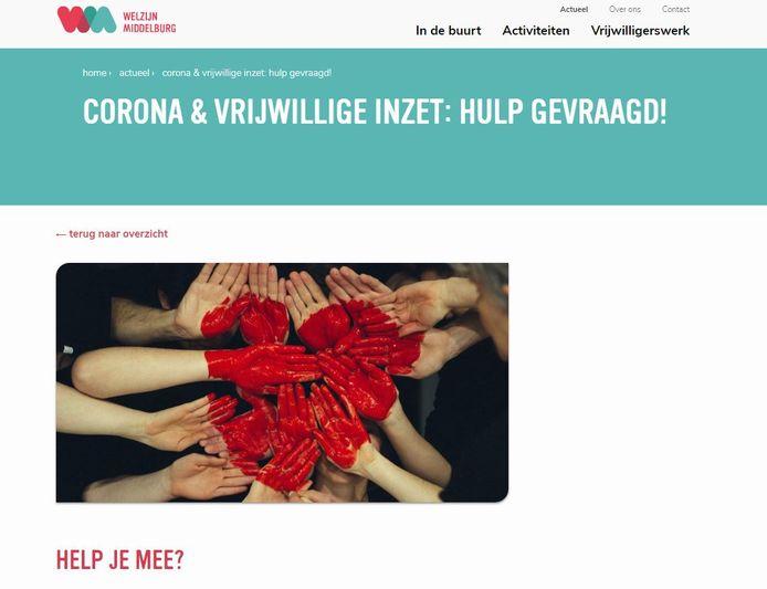 Stichting Welzijn Middelburg bundelt hulpacties en inventariseert hulpvragen.