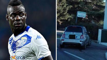 Dan maar te voet naar huis: Fiat 500 van Mario Balotelli zwaar beschadigd door ongeval na nieuwjaarsfeest