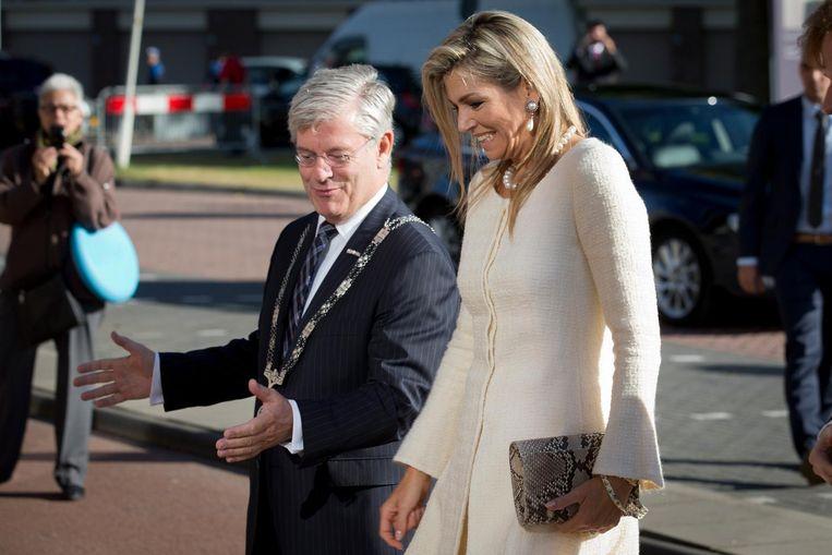 Koningin Máxima in Zoetermeer. Beeld anp