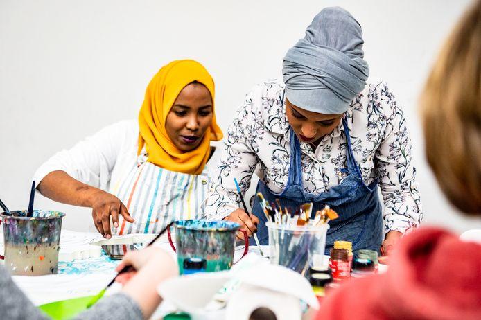 Vluchtelingenwerk had met een kunstproject een belangrijk aandeel in Internationale Vrouwendag in Hilvarenbeek.