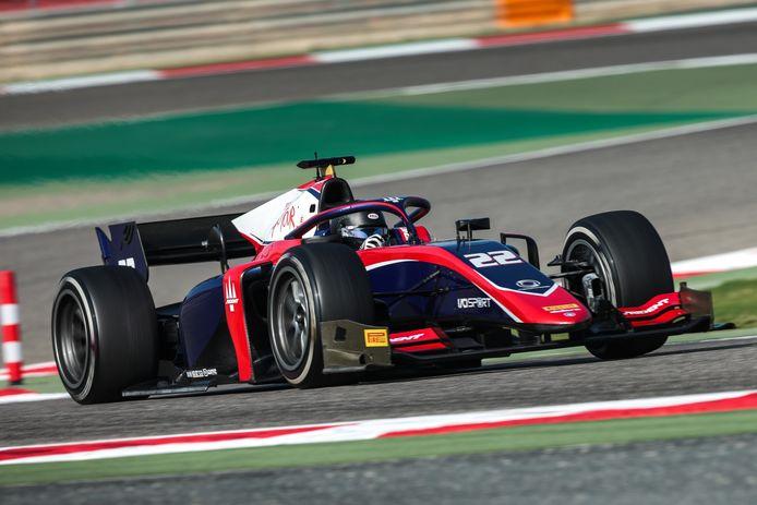 Bent Viscaal in zijn nieuwe racewagen van Trident.