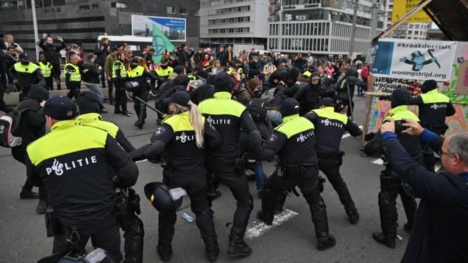 Acht arrestaties bij woonprotest na onrust