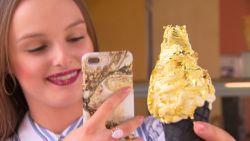 Nieuwe Instagramhype: een gouden ijsje