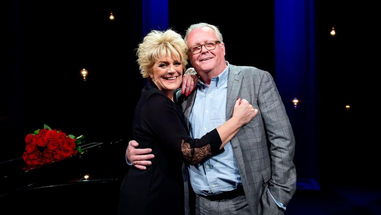 Guus Verstraete en echtgenote Simone Kleinsma Beeld ANP