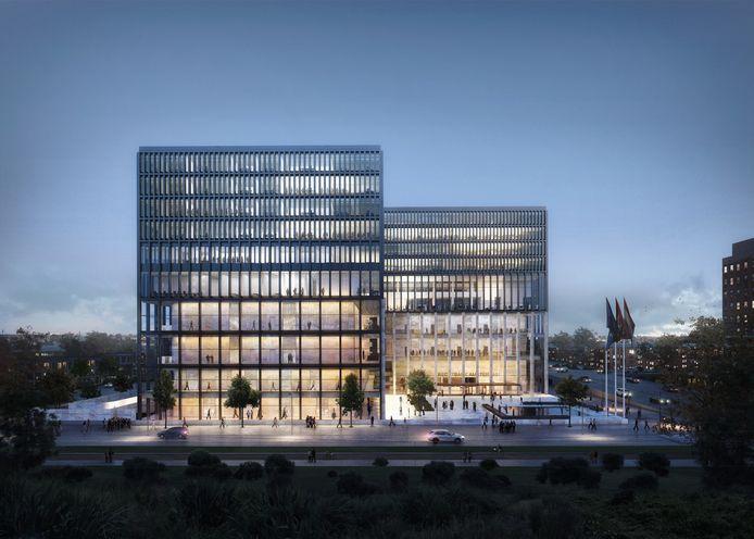 Impressie nieuwbouw rechtbank Amsterdam
