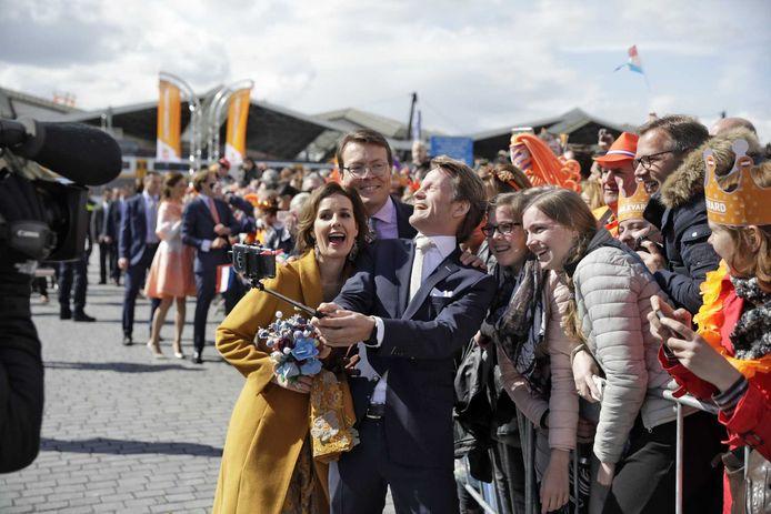 'Selfiekoning' van de dag was prins Maurits.