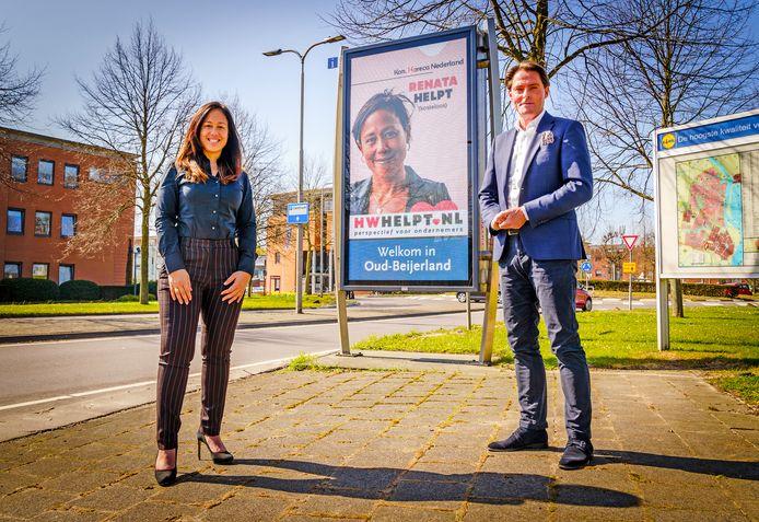 Renata Beijern van Koninklijke Horeca Nederland en wethouder Paul Boogaard.