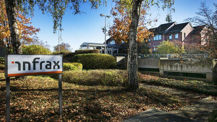 Noodopvangplaatsen voor vluchtelingen op de ambachtelijke site van Infrax, Lubbeek.