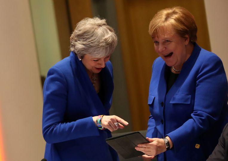 De Duitse kanselier Angela Merkel was voorstander van een lang uitstel. Beeld REUTERS