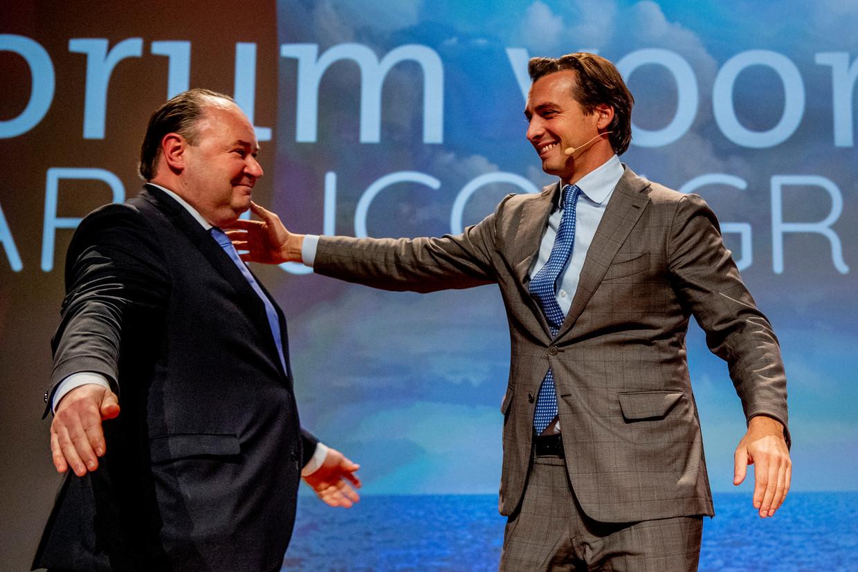 Het is heibel tussen Thierry Baudet en medeoprichter van het Forum voor Democratie Henk Otten. Beeld ROBIN UTRECHT