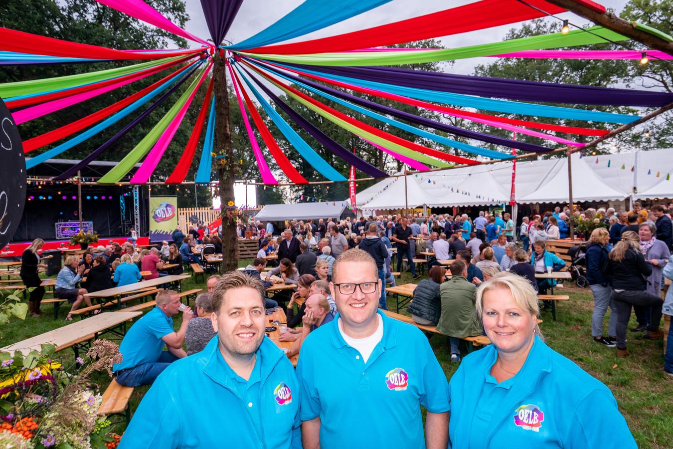 Het bestuur van de volksfeesten: Emiel Vehof (links), Christian Markslag en Maureen Brinkman.