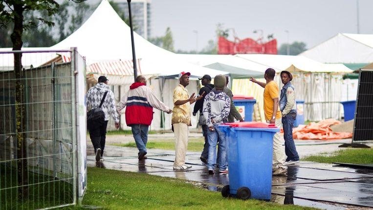 Bezoekers van het Zomerfestival (voorheen Kwakoe), gisteren. Beeld anp