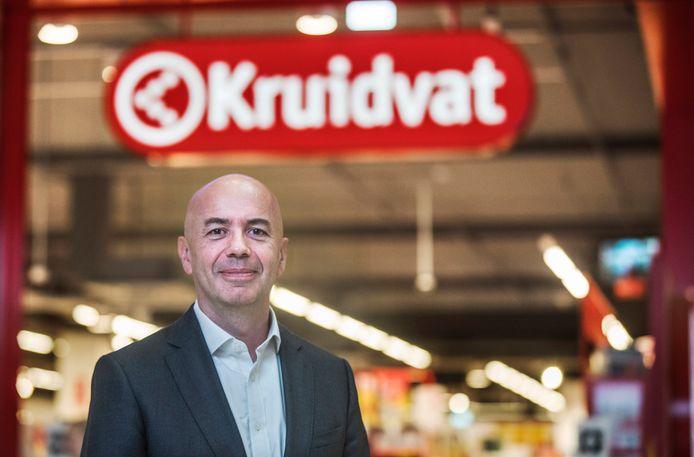 Ed van de Weerd, ceo van het Kruidvat voor het filiaal in Leidschendam.