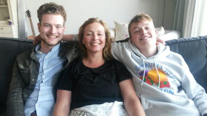 Thijs, Kirsten en Stijn, het broertje van Thijs.