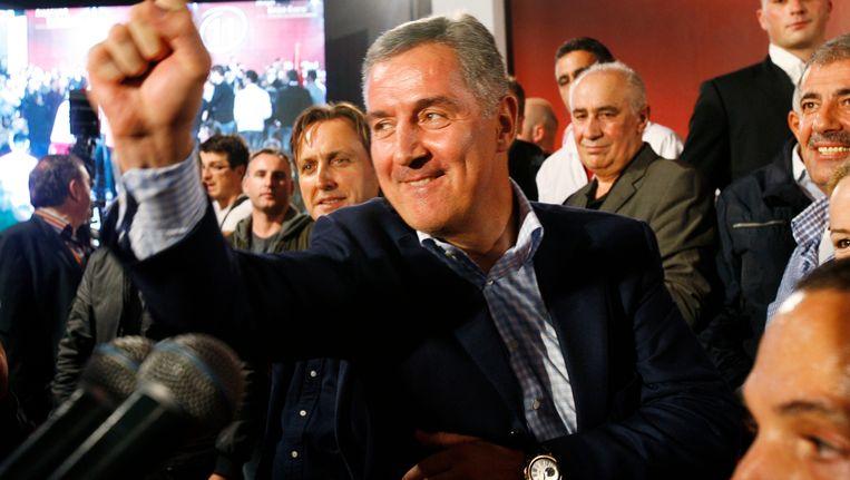 De socialistische voorman Milo Djukanovic triomfeert weer. Beeld REUTERS